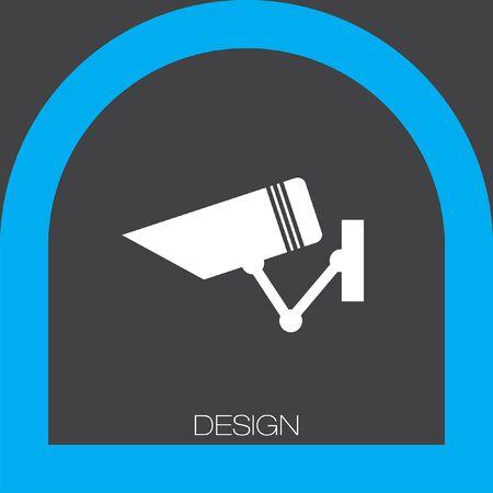 cam�ra surveillance: security surveillance camera icon Illustration