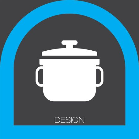 stew pot: stew pot icon Illustration