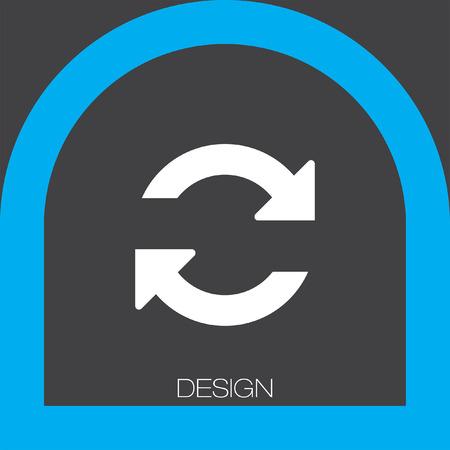refresh icon Illustration