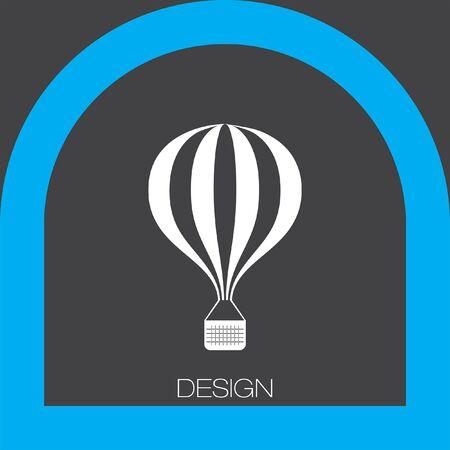 air: air balloon icon Illustration