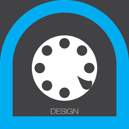 rotary phone: Rotary Phone Dial icon Illustration