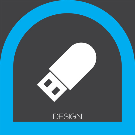 usb stick: USB stick icon