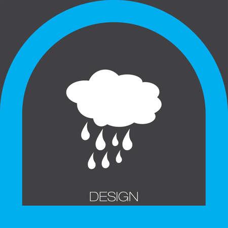 rain weather: cloud with rain weather icon