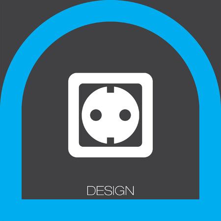 wall plug: power socket icon