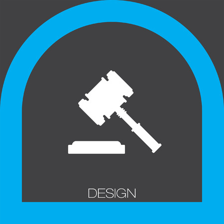 verdicts: judge hammer icon Illustration