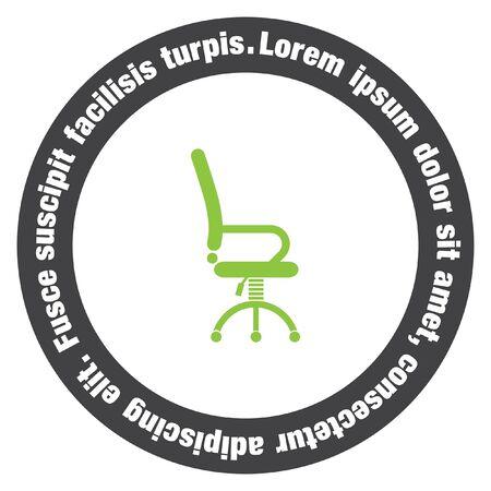 chair vector: lavoro d'ufficio sedia icona vettore Vettoriali