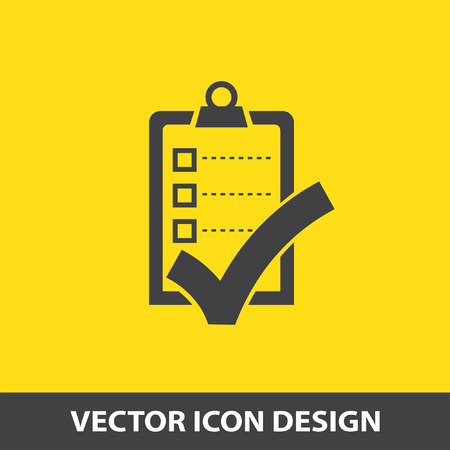 task list: check list with ok sign vector icon