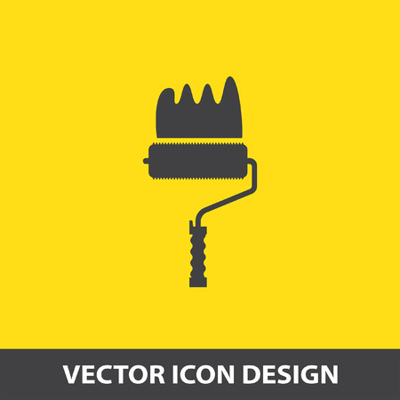 decorating: painting roller vector icon