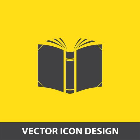 icono de vector libro abierto