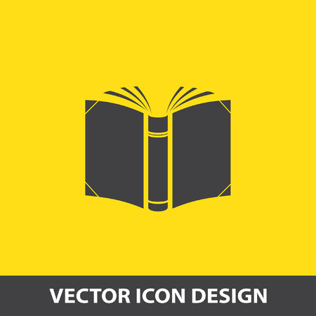 open magazine: open book vector icon Illustration