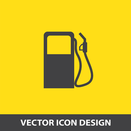petrol station: gas station pump vector icon Illustration