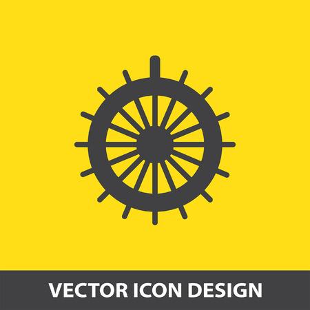 ruder: Ruder-Vektor-Symbol Illustration