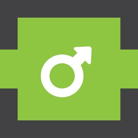 gender symbol: genere maschile simbolo icona vettore