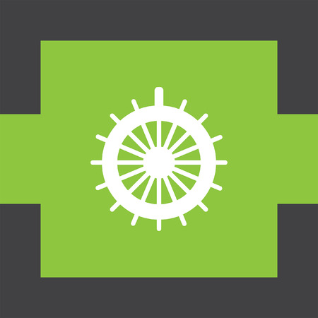 Steuerruder: Ruder-Vektor-Symbol Illustration