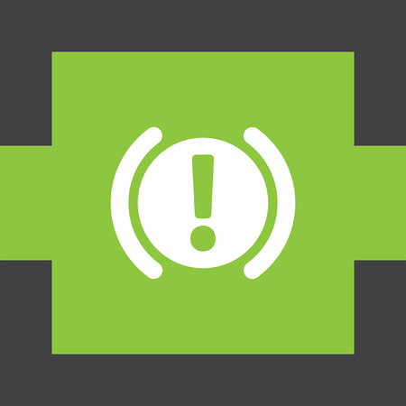 car brake: car parking brake signal vector icon