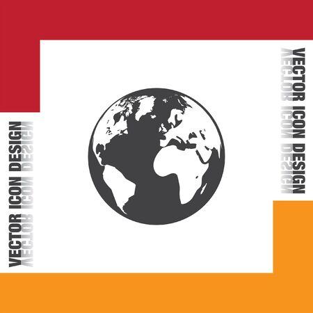 earth map: Earth globe icon