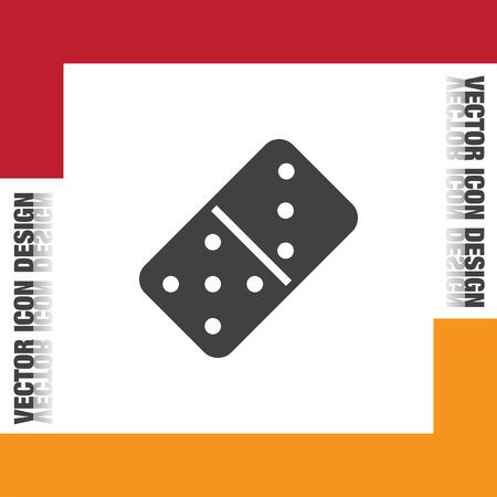 domino: dominoes vector icon Illustration
