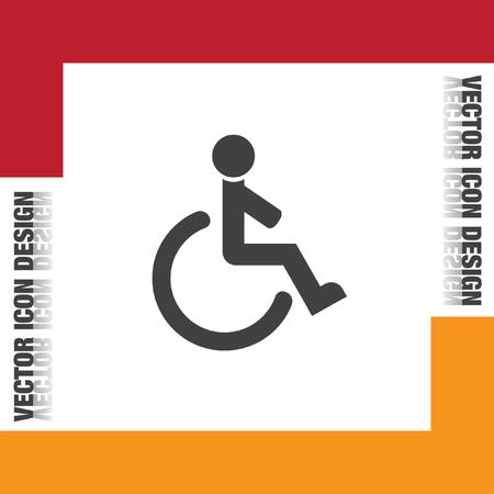 silla de ruedas: icono de vectores en silla de ruedas