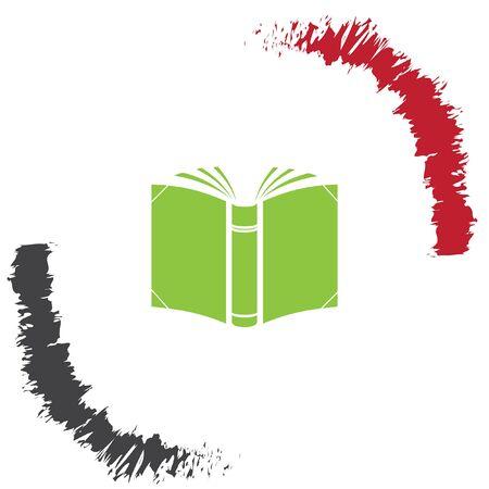 book vector: open book vector icon Illustration