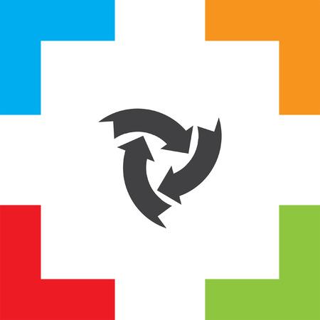 icono flecha: icono de flecha circular Vectores