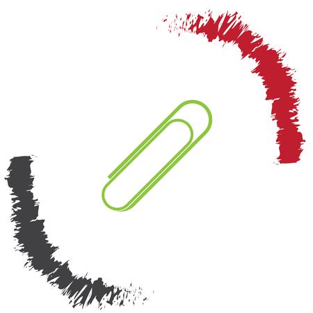 paperclip: paperclip vector icon
