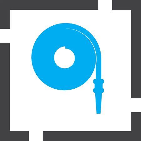 manguera: icono de la manguera de fuego vector