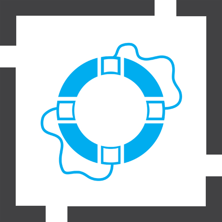 safety belts: lifebuoy vector icon