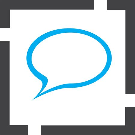 speech icon: speech bubble vector icon