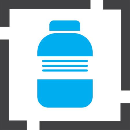 prescription bottles: medical bottle vector icon