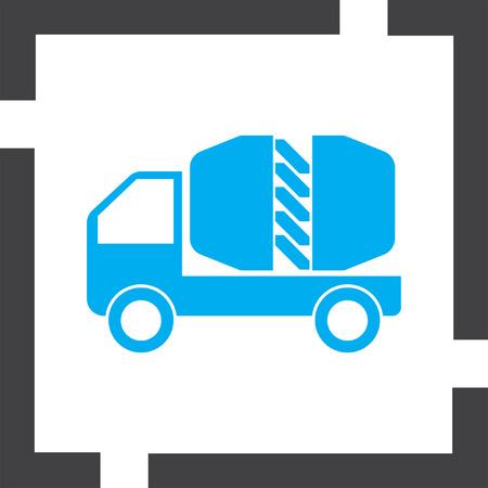 cement truck: cement truck vector icon