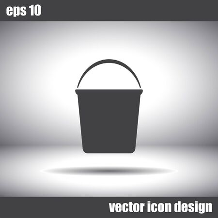 bucketful: bucket vector icon