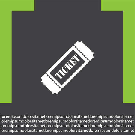 ticket vector: icono de vectores billete Vectores