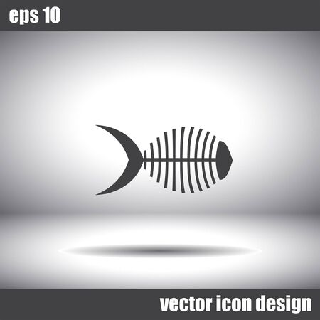 head shape: fish bone vector icon Illustration