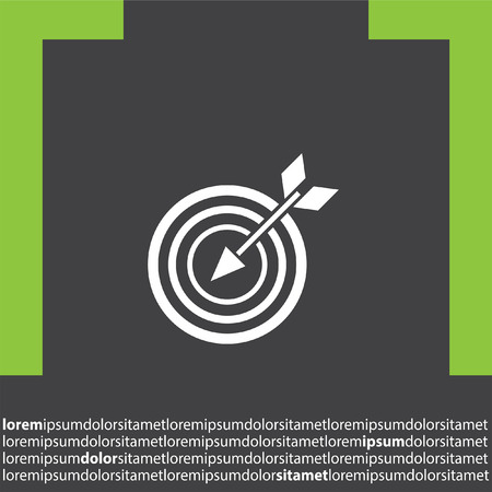 business performance: target with arrow vector icon