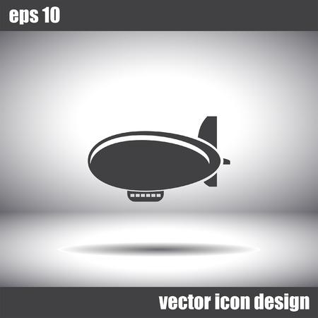 luftschiff: airship zeppelin vector icon Illustration
