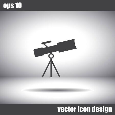 observing: telescope vector icon