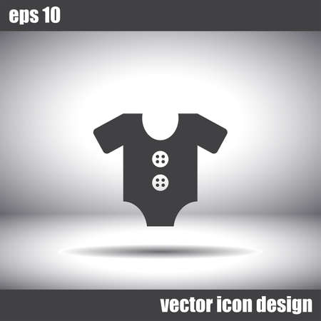 baby clothing: baby clothing vector icon