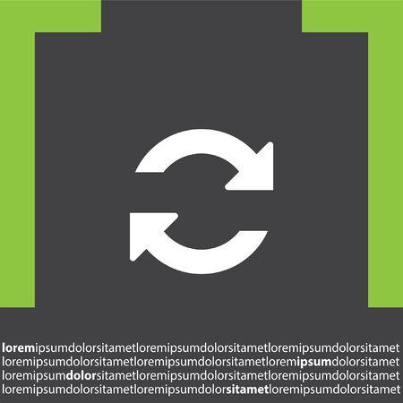 opfrissen: refresh vector icon Stock Illustratie