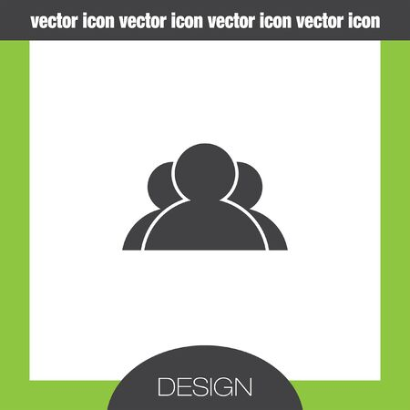 three people: three people icon Illustration