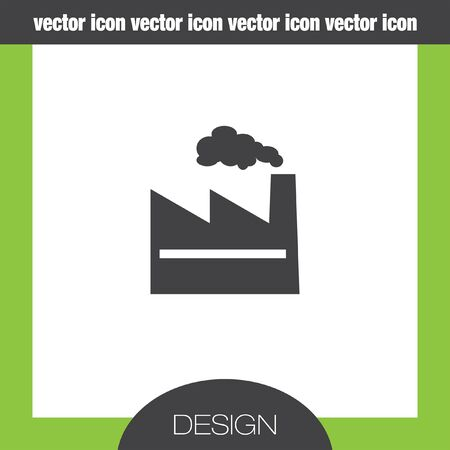 business graphics: factory icon