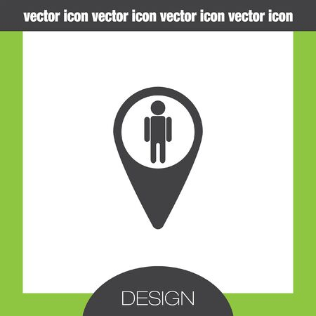 view icon: map pin street view icon Illustration
