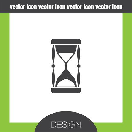 sand clock: icono del reloj de arena Vectores