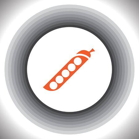 soya: green beans vector icon