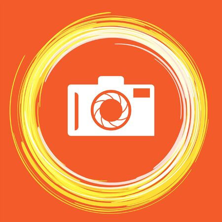 camera vector icon Illustration