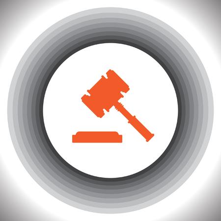 martillo juez: juez icono del martillo vector Vectores