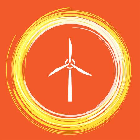 발전기: wind generator vector icon