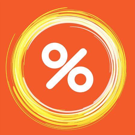 modern illustration: percent sign vector icon