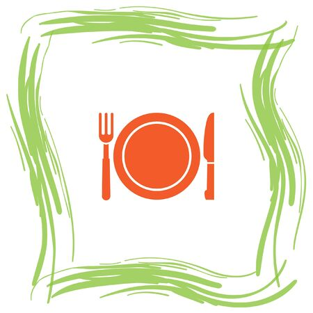 menu icon: fork and knife menu vector icon