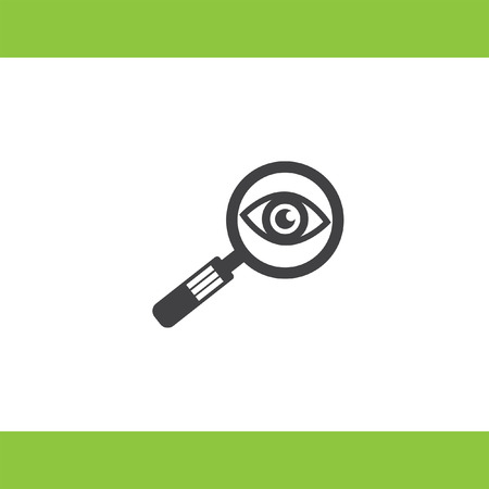 magnifying glass and eye vector icon Stock Vector - 43759157