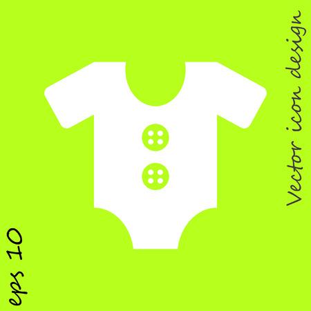 jumpsuit: baby jumpsuit vector icon Illustration